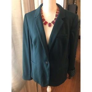 {The Limited} Dark Teal Long Sleeve Blazer